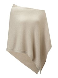 Jigsaw Knitted Ribbed Border Poncho Almond Cream