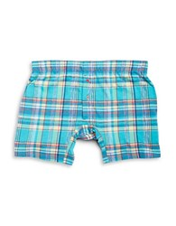 Tommy Bahama Plaid Knit Boxers Turquoise