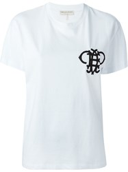 Emilio Pucci Embroidered Logo T Shirt White