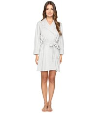 Kate Spade Brushed French Terry Robe Grey Heather Eat Cake For Breakfast Women's Robe Gray