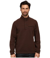 Exofficio Alpental Pullover Coffee Men's Long Sleeve Pullover Brown