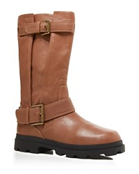 Gentle Souls Waterproof Buckle Mid Shaft Boots Brown