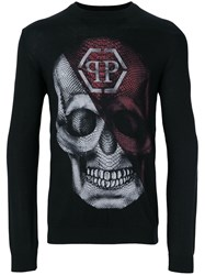 Philipp Plein Printed Jumper Black