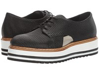 Summit By White Mountain Brody Black Textured Leather Women's Lace Up Casual Shoes