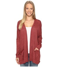 B Collection By Bobeau Rumor Dolman Cardi Spice Women's Sweater Red