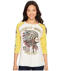 Double D Ranchwear Night Bird Motel Tee Yellowbelly Women's T Shirt White