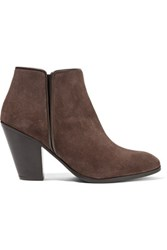 Giuseppe Zanotti Suede Ankle Boots Dark Brown