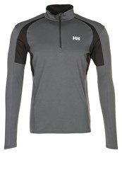 Helly Hansen Pace Long Sleeved Top Charcoal Anthracite