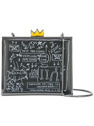 Alice Olivia Basquiat Glow In The Dark Clutch Black