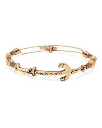 Alex And Ani Horizontal Anchor Expandable Wire Bangle Rafaelian Gold