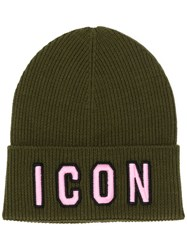 Dsquared2 Icon Beanie Green