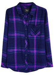 Rails Hunter Dark Blue Plaid Shirt Navy