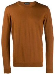Roberto Collina Knitted Roundneck Sweater Brown