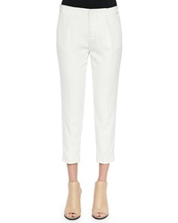 Haute Hippie Pleated Straight Leg Capri Pants