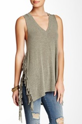 Riller And Fount Iris Side Fringe Tank Beige