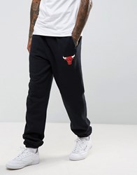 Mitchell And Ness Chicago Bulls Nba Cuffed Joggers Black