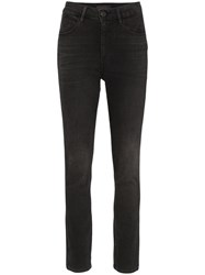3X1 Channel Seam Skinny Jeans Black