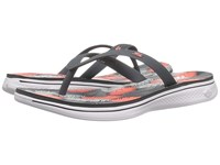 Skechers H2 Goga Charcoal Coral Women's Sandals Gray