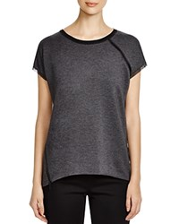 Elie Tahari Sport Celeste Color Block Tee Dark Grey Melange