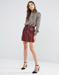 Y.A.S Naima Leather Skirt Andorra Pink