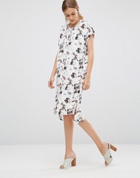 Just Female Marble Shirt Dress Red Aop