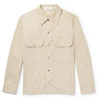 Helmut Lang Cotton Canvas Overshirt Taupe