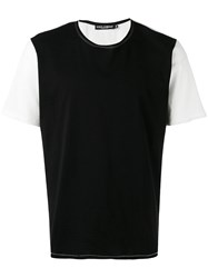 Dolce And Gabbana Two Tone T Shirt Black