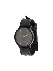 South Lane Avant Pure Watch Stainless Steel Calf Leather Glass Black