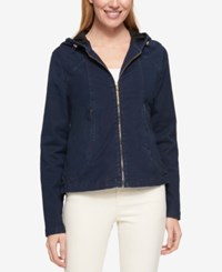 Tommy Hilfiger Hooded Denim Jacket Only At Macy's Academy Blue