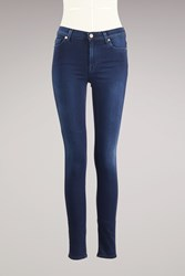 7 For All Mankind Skinny High Waist Jeans Rich Indigo