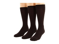Smartwool New Classic Rib 3 Pair Pack Chestnut Men's Crew Cut Socks Shoes Brown