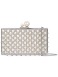 Sophia Webster Clara Clutch Bag Silver