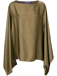 Ralph Lauren Collection Square Neck Top Women Viscose M Brown