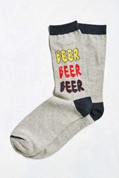 Urban Outfitters More Beer Sock Grey
