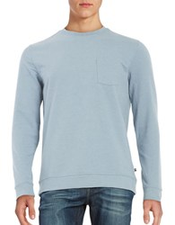 Black Brown Long Sleeve Tee Pale Blue