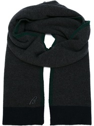 Brioni Knitted Scarf Grey