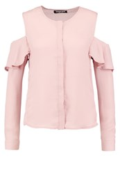 Fashion Union Elmo Blouse Blush Pink