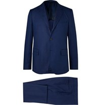 Massimo Piombo Mp Navy Unstructured Linen Suit Navy