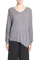 Women's Alexander Wang Asymmetrical Merino Wool V Neck Sweater