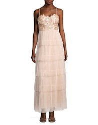 Js Collections Spaghetti Strap Lace Bodice Gown Porcelain