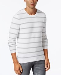 Inc International Concepts Men's Texture Stripe Sweater Only At Macy's White Pure