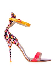 Sophia Webster Nicole Sketch Camo Leather Sandals