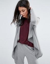 Y.A.S Yas Waterfall Cardigan Grey Melange