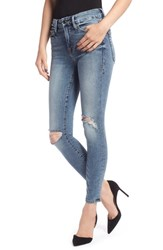Good American Plus Size Legs Ankle Skinny Jeans Blue 129