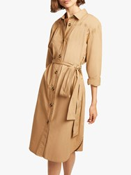 French Connection Southside Belted Dress Wet Sand