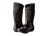 Bogs Plimsoll Quilted Floral Tall Black Women's Rain Boots