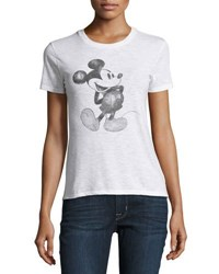 David Lerner Mickey Mouse Graphic Tee White