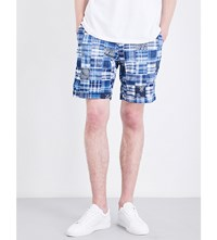 Polo Ralph Lauren Patchwork Classic Fit Cotton Shorts 1649 Indigo Nav