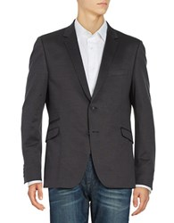 Strellson Arek Two Button Cotton Jacket Dark Grey