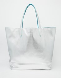 Paul's Boutique Pauls Boutique Chloe Reversible Tote In Teal And Silver Teal Silver Multi